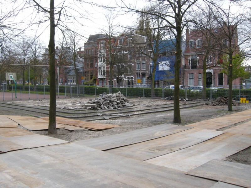 The building process off the concrete skatepool at the Heemraadssingel in Rotterdam has begun!