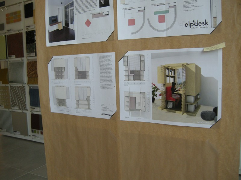 Young Architects Award round 1 exhibition at Materia Inspiration Center, Amsterdam