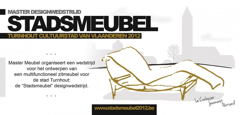 Selected as finalists for Stadsmeubel Turnhout competition!