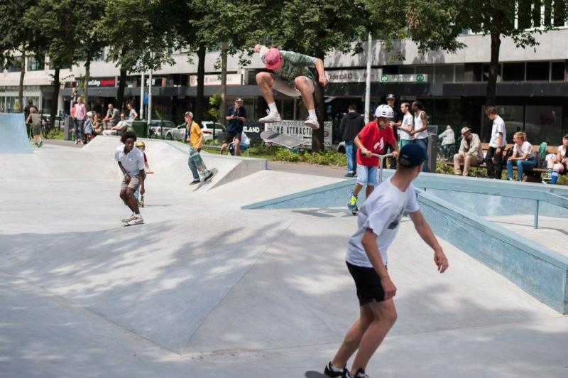 Westblaak Rotterdam skatepark LAGADO architects public space urban youth play opening1