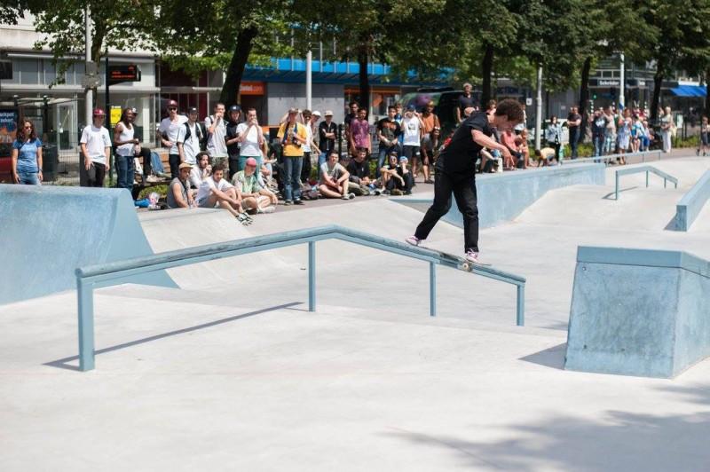 Westblaak Rotterdam skatepark LAGADO architects public space urban youth play opening10