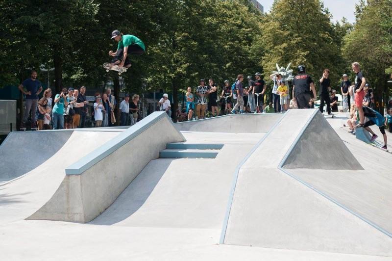 Westblaak Rotterdam skatepark LAGADO architects public space urban youth play opening3