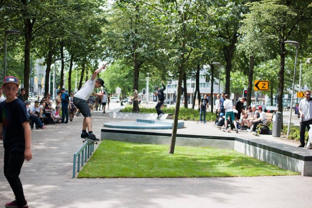 Westblaak Rotterdam skatepark LAGADO architects public space urban youth play opening7