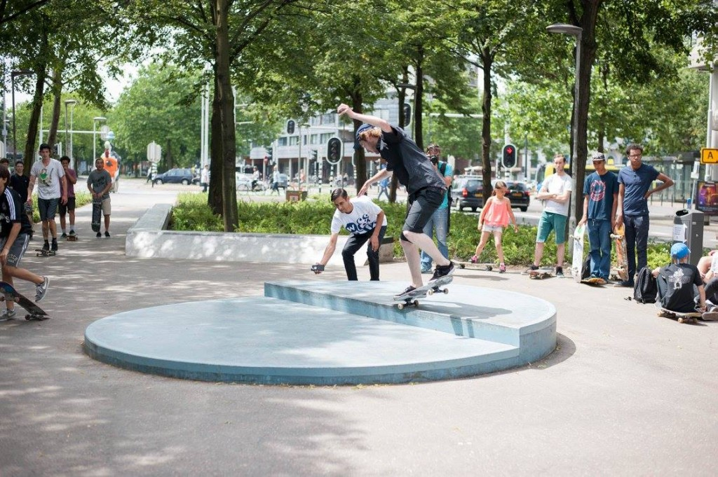Westblaak Rotterdam skatepark LAGADO architects public space urban youth play opening8