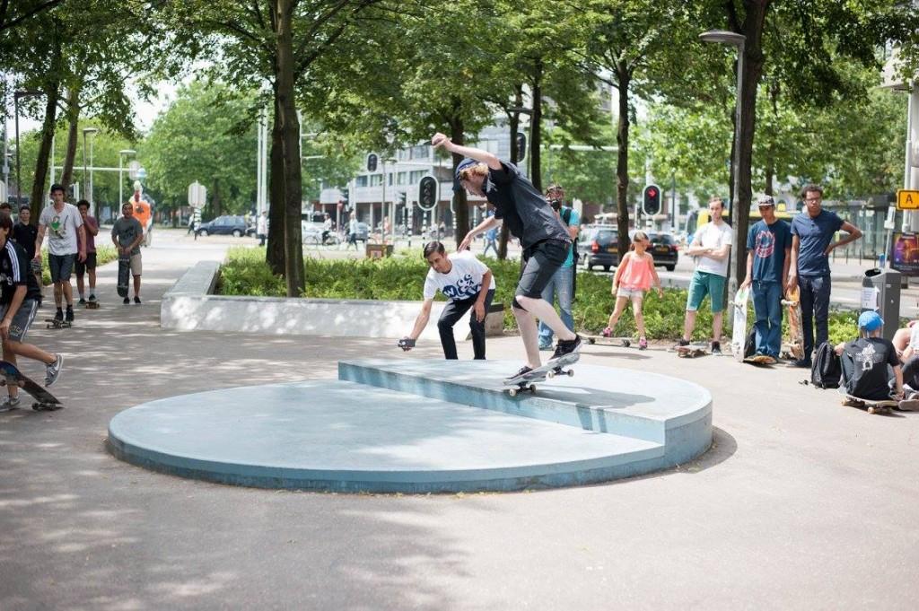 Westblaak Rotterdam skatepark LAGADO architects public space urban youth play opening8