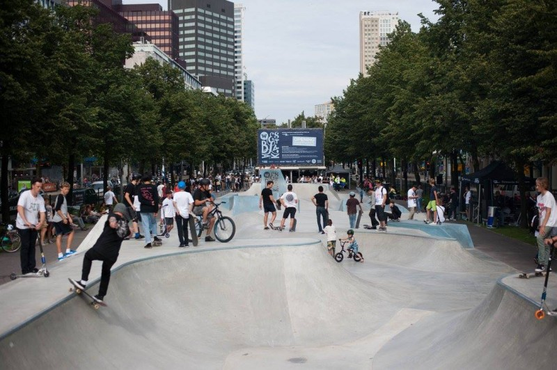 Westblaak Rotterdam skatepark LAGADO architects public space urban youth play opening9