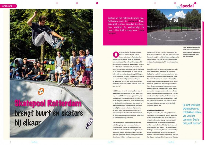 LAGADO contributed to Urban Sports special in Buitenspelen Magazine