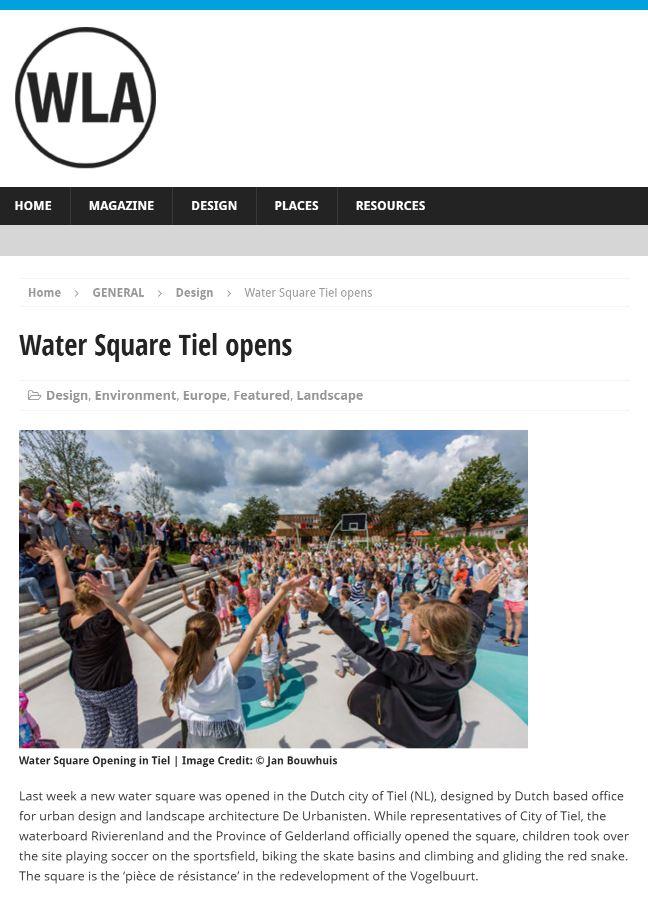 Watersquare Tiel on WorldLandscapeArchitect.com