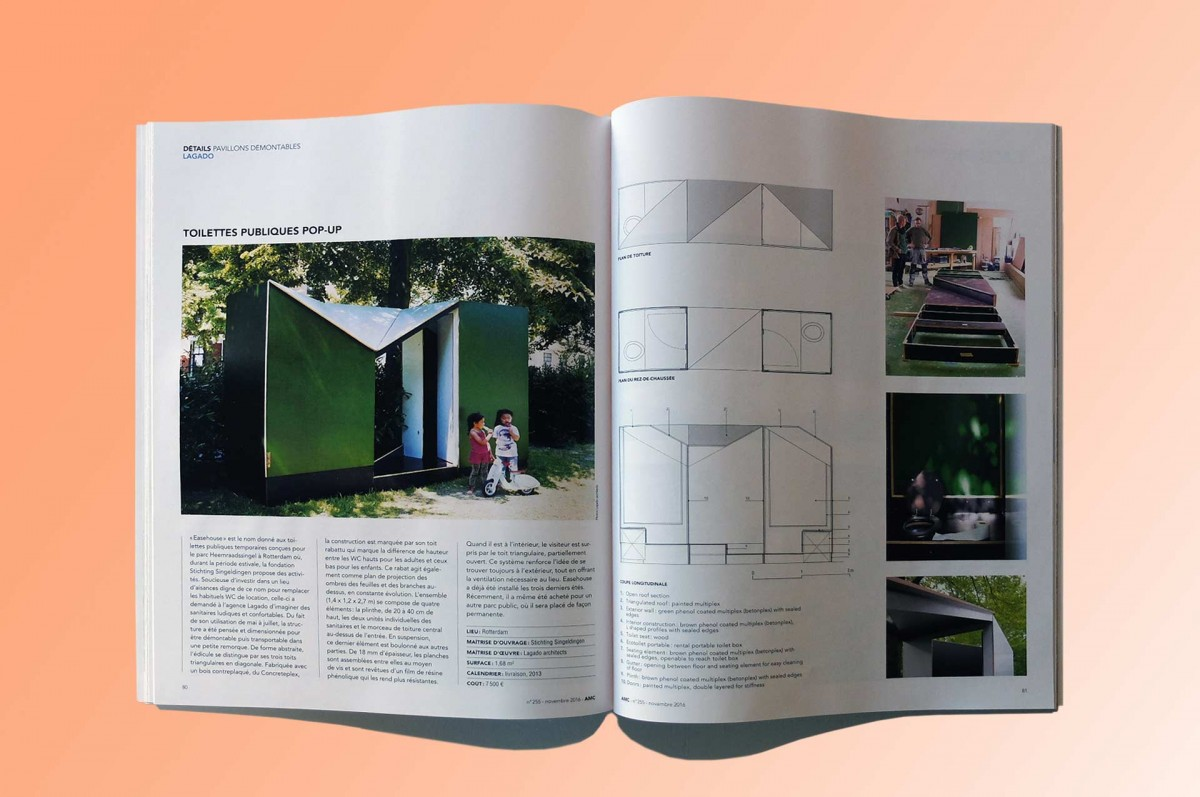 Easehouse published in AMC magazine, oui!