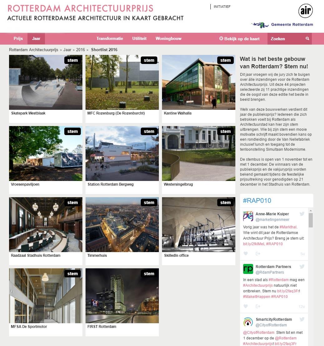 Skatepark Westblaak nominated for Rotterdam Architectuurprijs – help us win by voting!