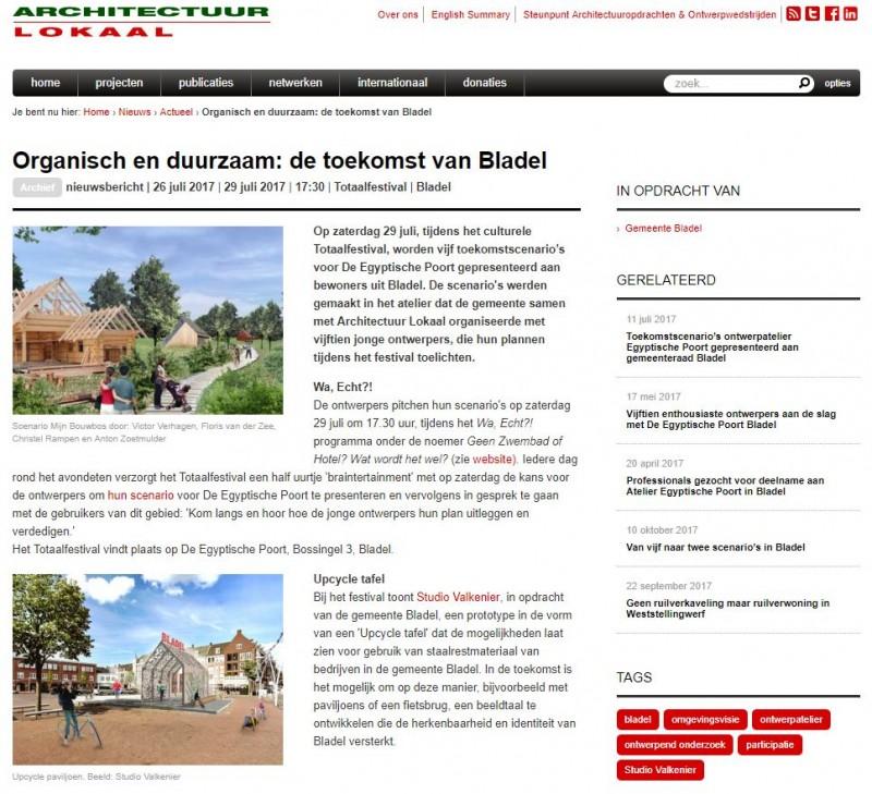 Egyptische Poort redevelopment scenario's presented on site at Totaal Festival Bladel