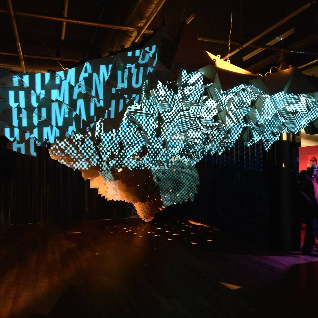 Surface pavillion performed at Nacht van de Kunsten at Art Academy Tilburg