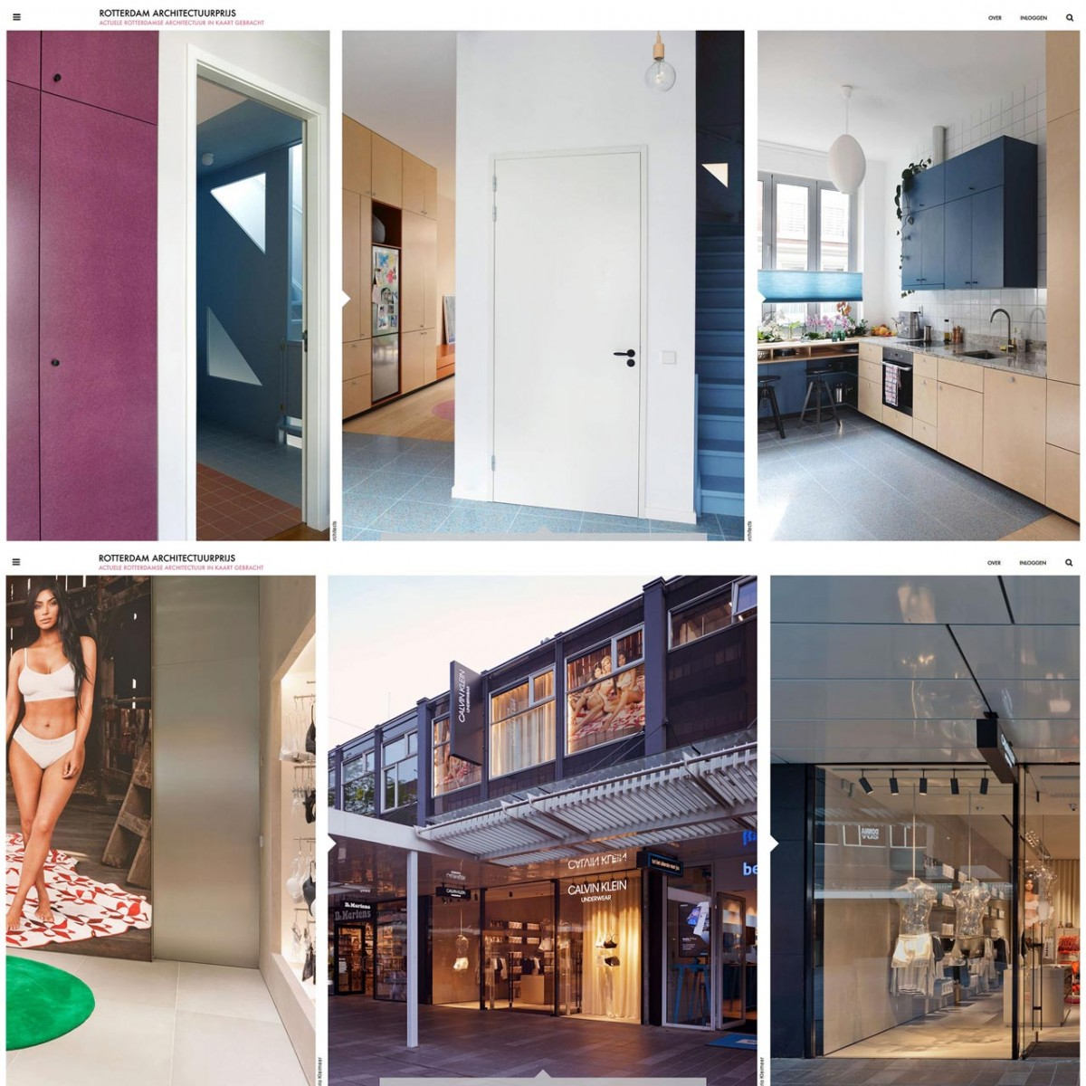 Calvin Klein Lijnbaan and Work Home – Play Home up for Rotterdam Architectuurprijs 2018