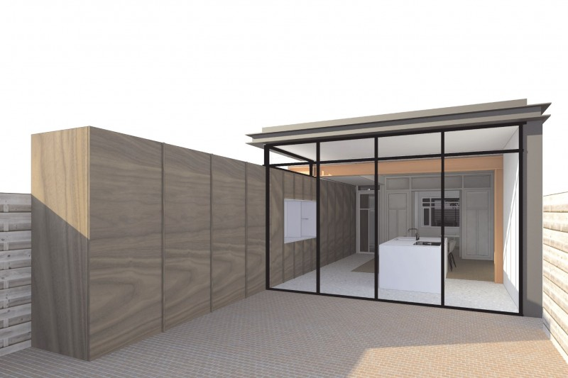 New project! Colourful construction for extension in Leiden