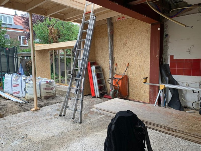 Storage Wall House under construction
