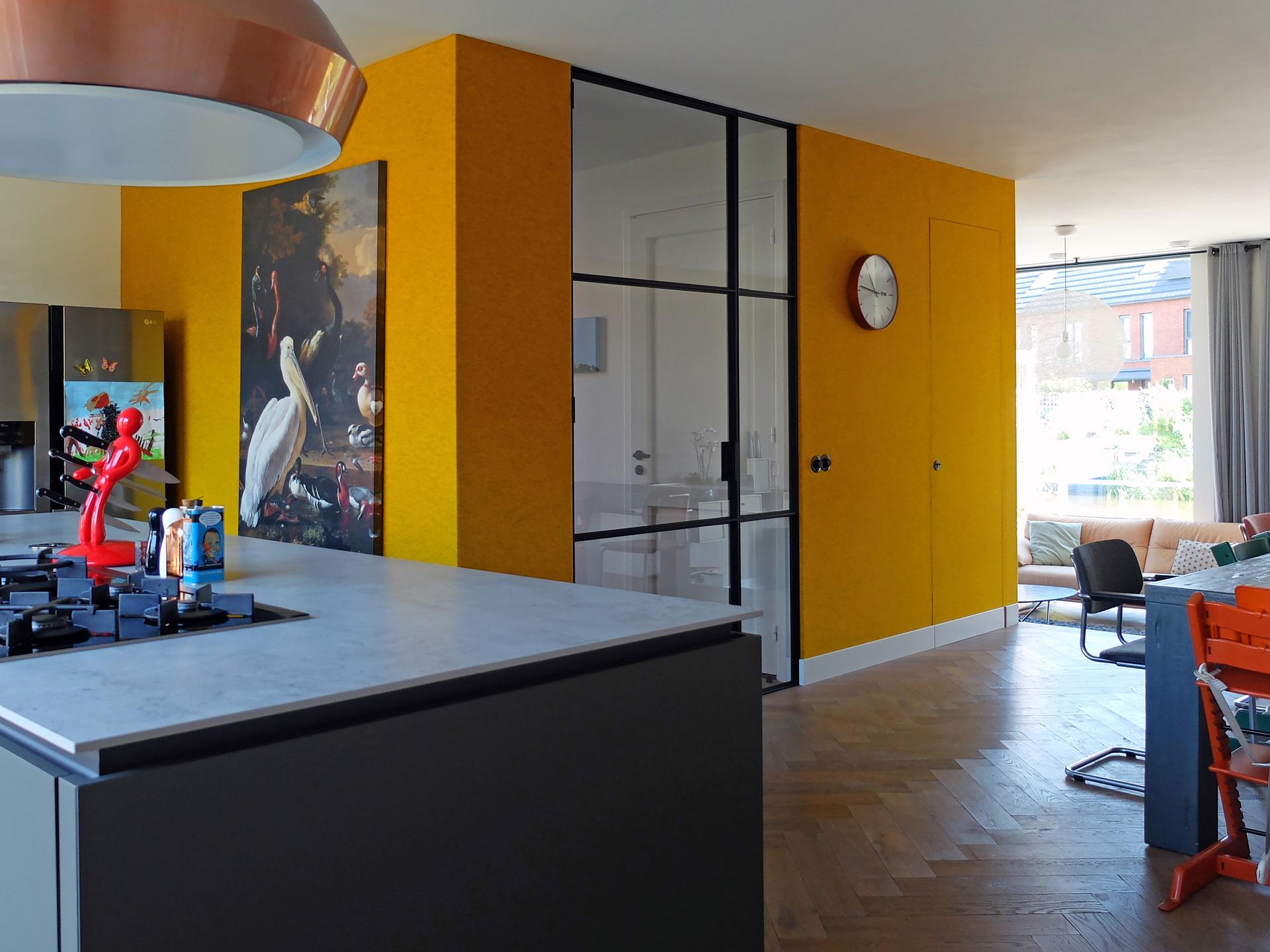 LAGADO-architects-orange-core-kitchen-island-dining-felt-residential-interior-at-home