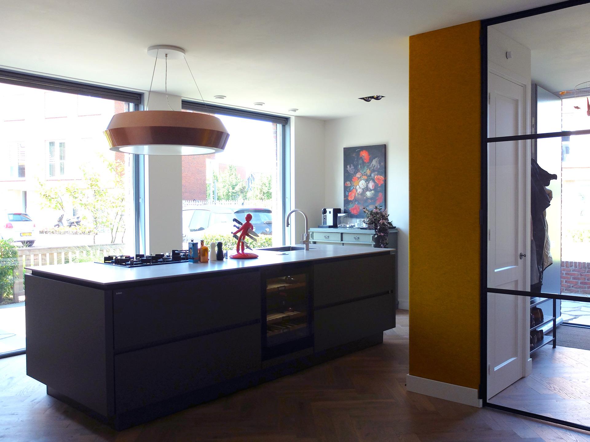 LAGADO-architects-orange-core-kitchen-island-felt-residential-interior-at-home