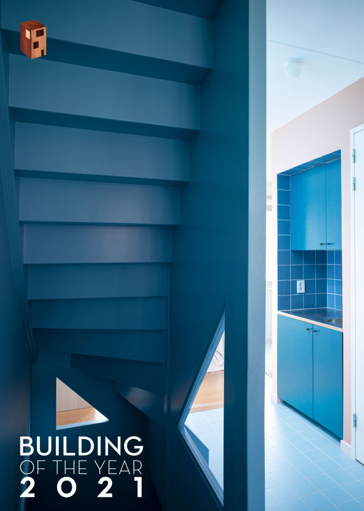 5-Lagado-architects-workhome-playhome-Rotterdam-interior-triangular-windows-blue-stair-tiles-valchromat-escher-piranesi-pantry-by-Ruben-Dario-Kleimeer_BOTY21